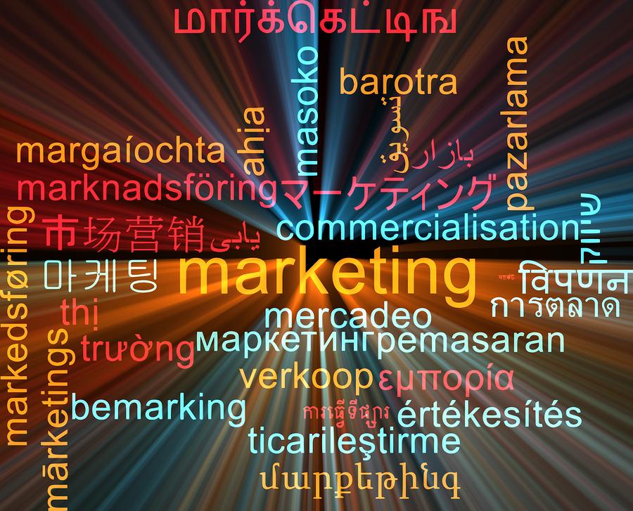 Background concept wordcloud multilanguage international many la